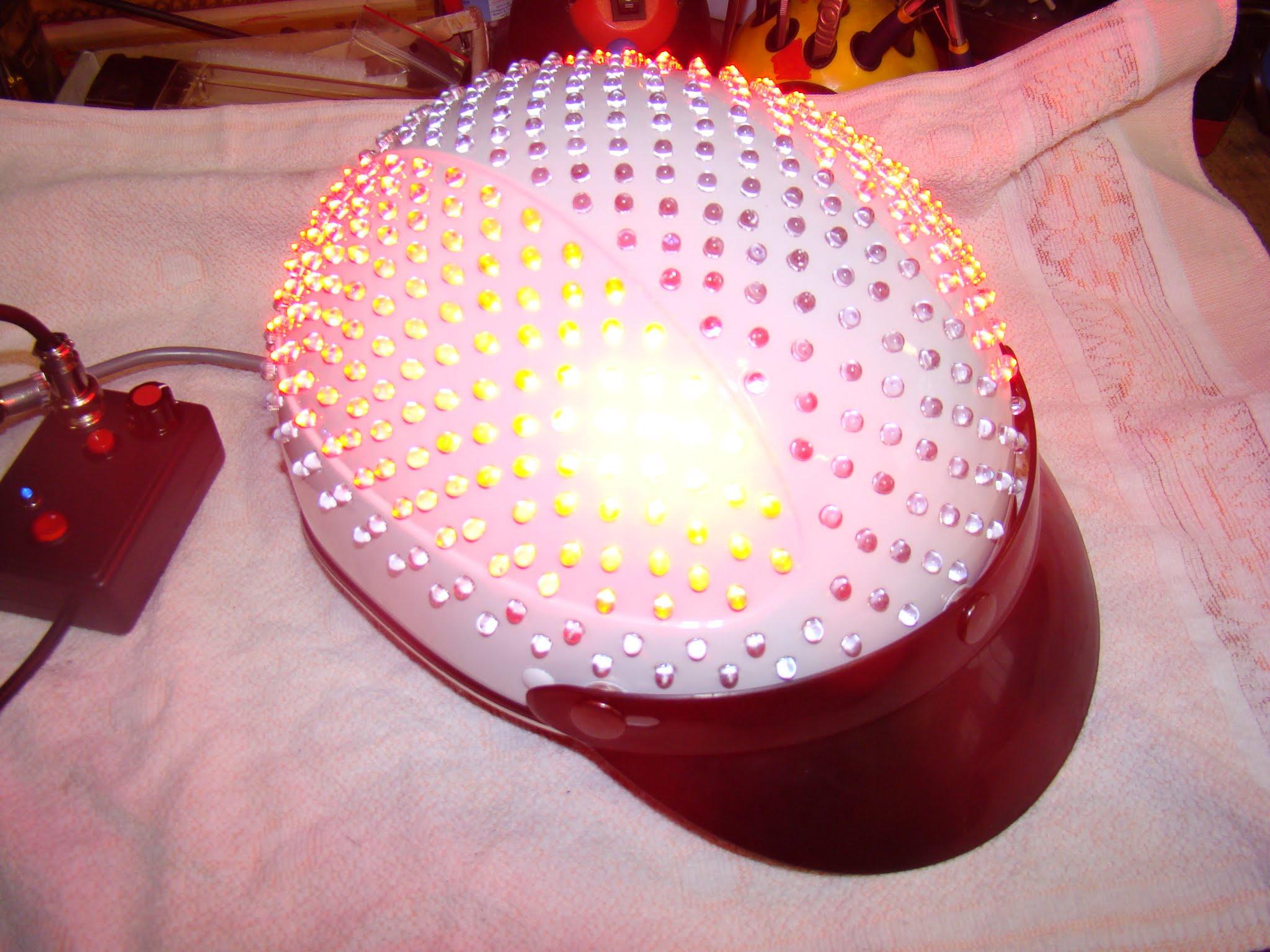 Świecący kask LED